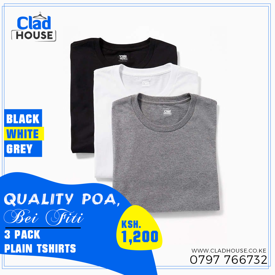 3 Pack Plain Tshirts