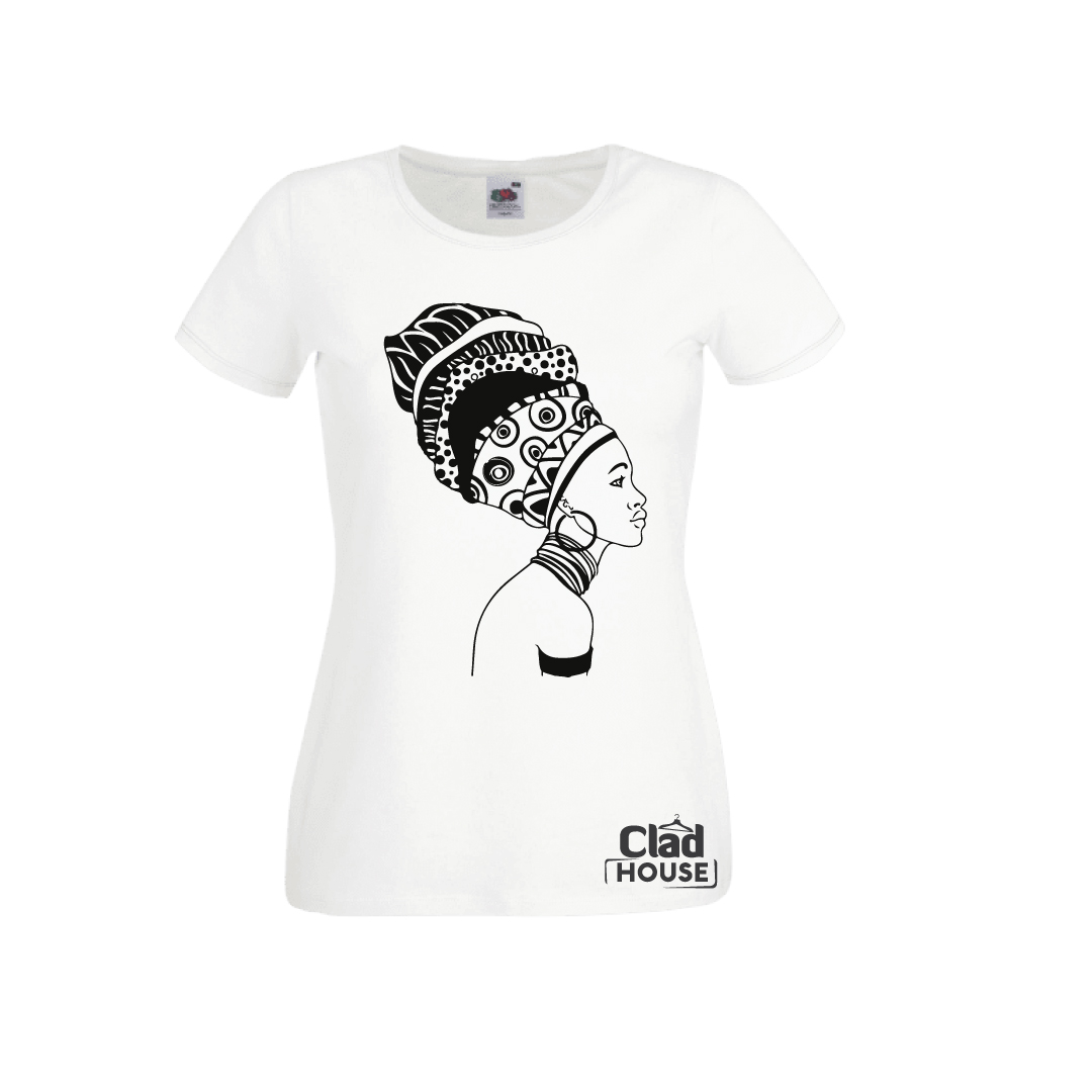 African turban ladies Tshirt