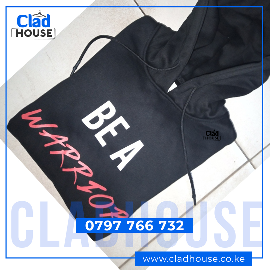 Be A Warrior Black Hoodie