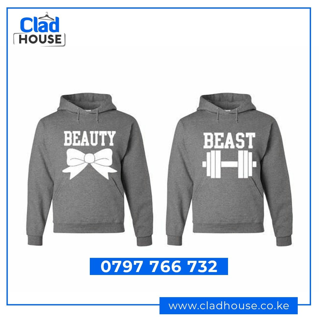 Beauty & Beast Couple Hoodies