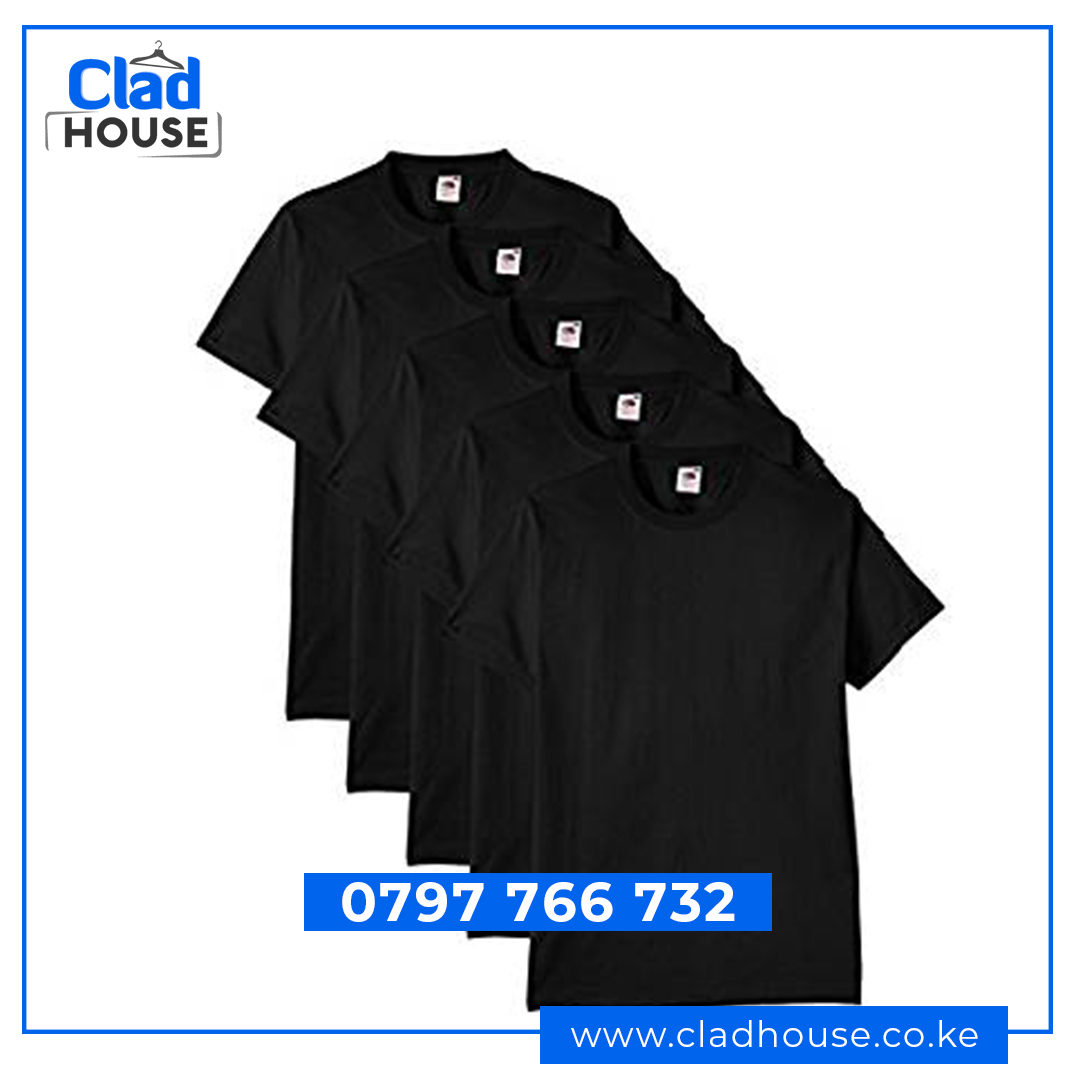 Black Plain Tshirts