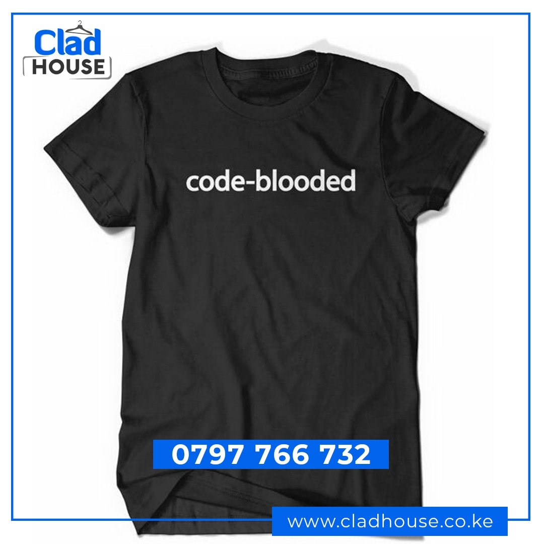 Code-Blooded Programming Tshirt
