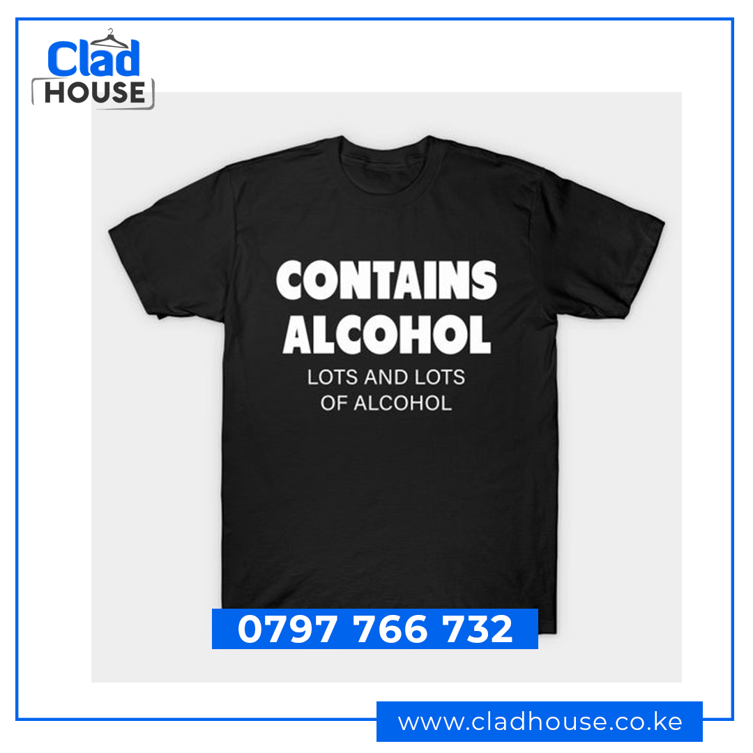 Contains Alcohol Humor Tshirt