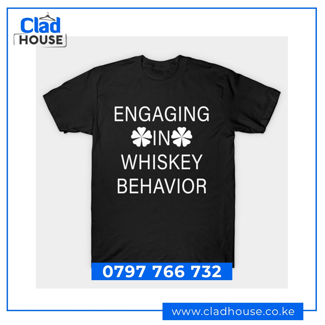 Engaging in Whiskey Behaviour Humour Tshirt