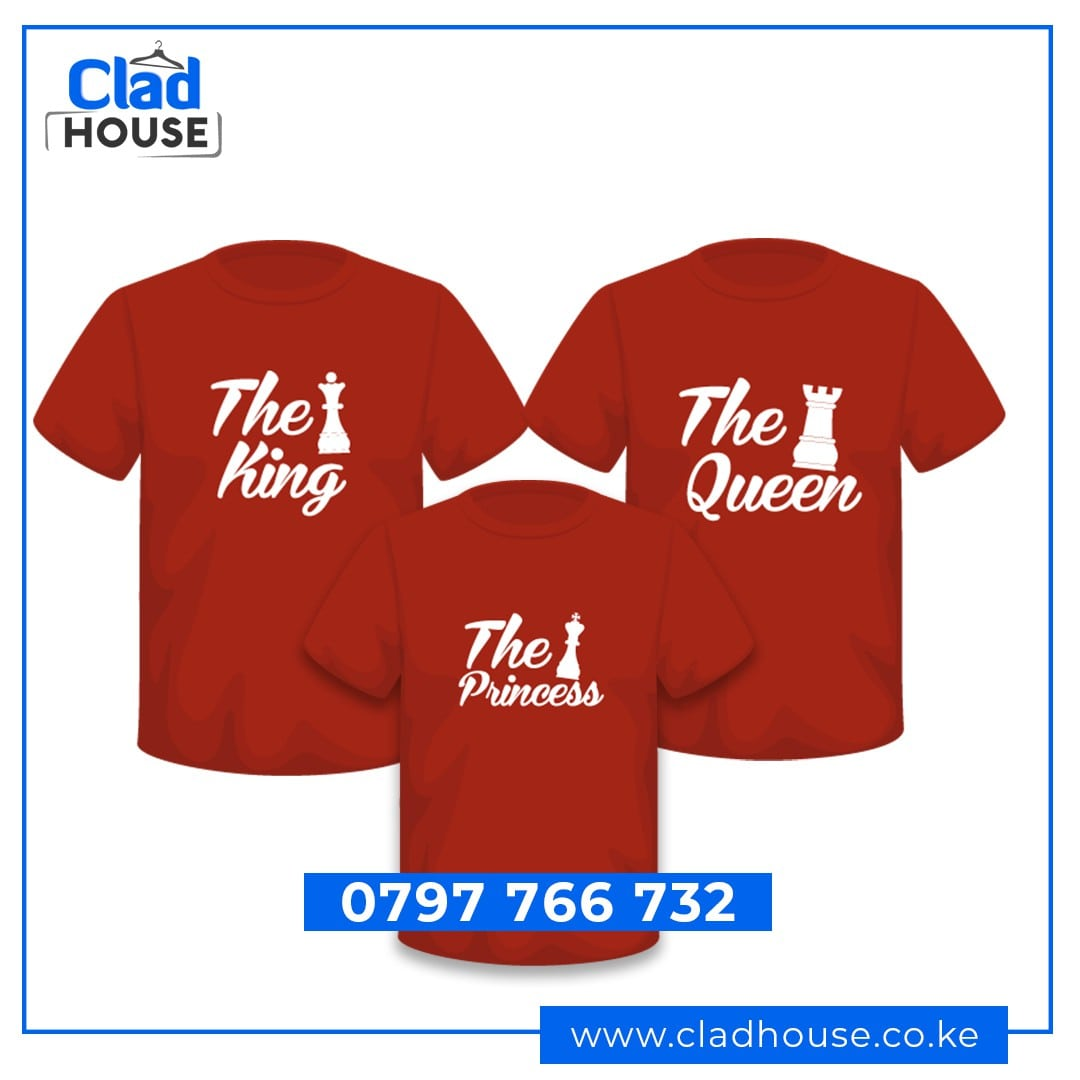 Family King, Queen & Princess Tshirts