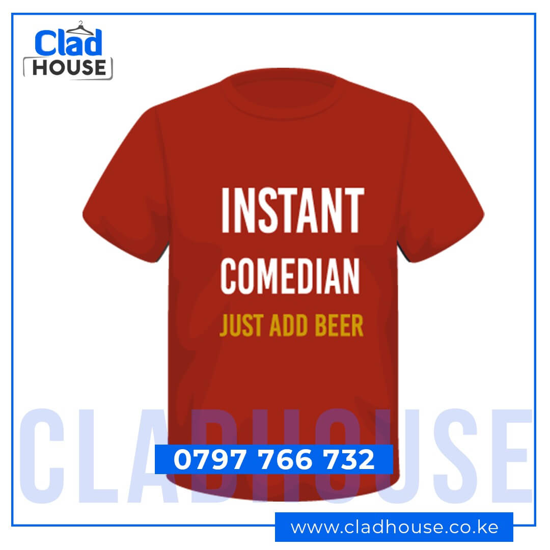 Instant Comedian Add Beer Tshirt