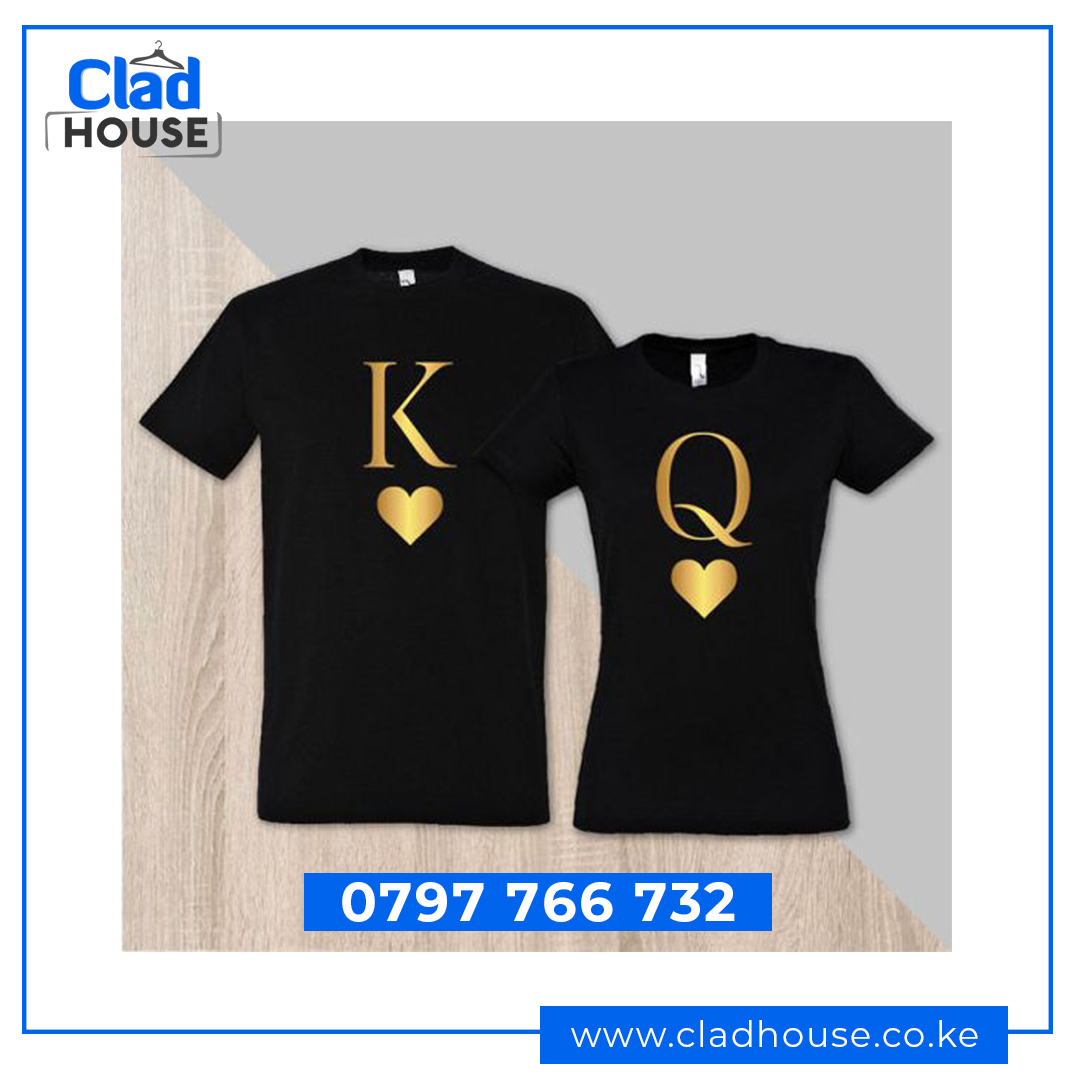 King & Queen (K & Q) Couple Tshirts