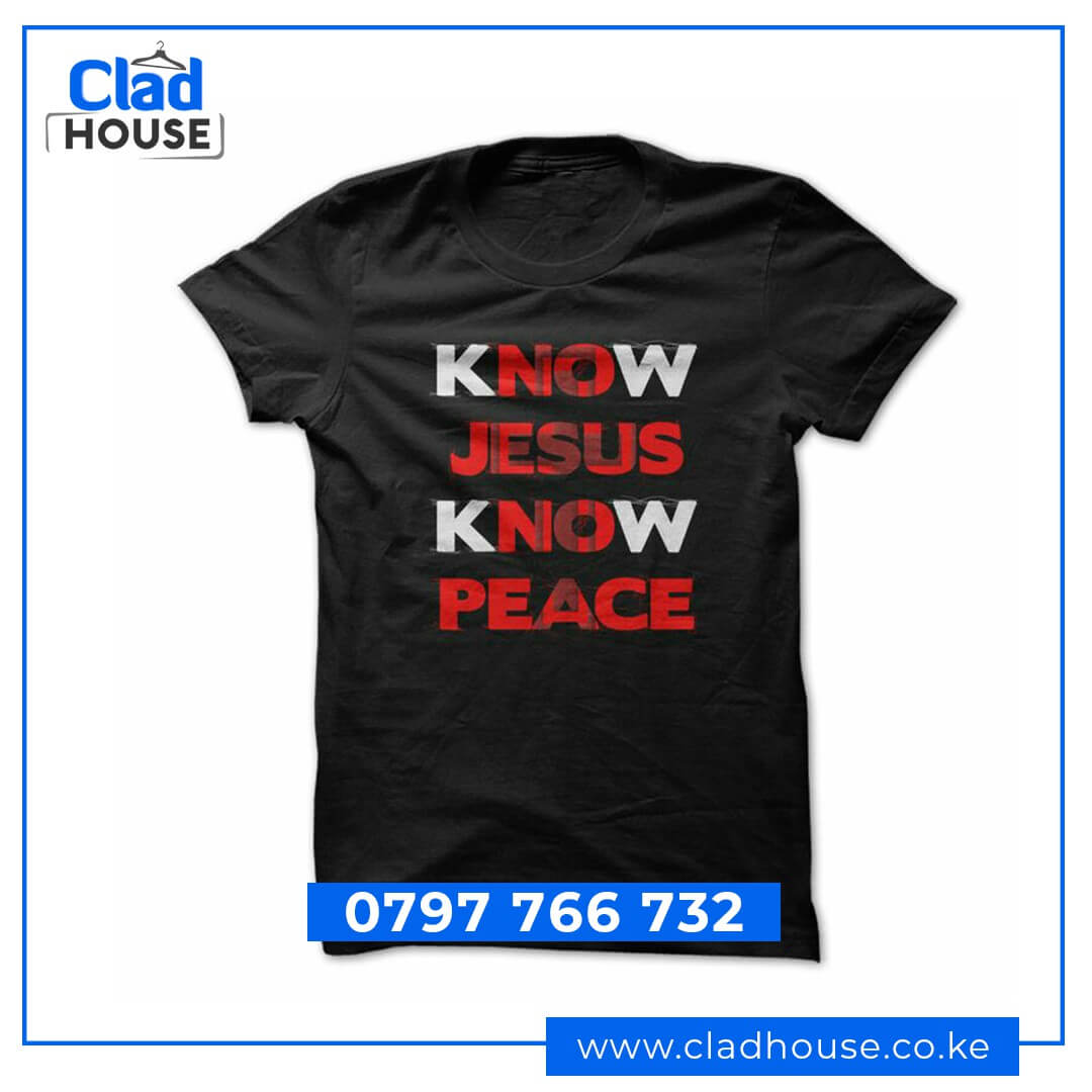 Know Jesus Know Peace Christian Tshirt