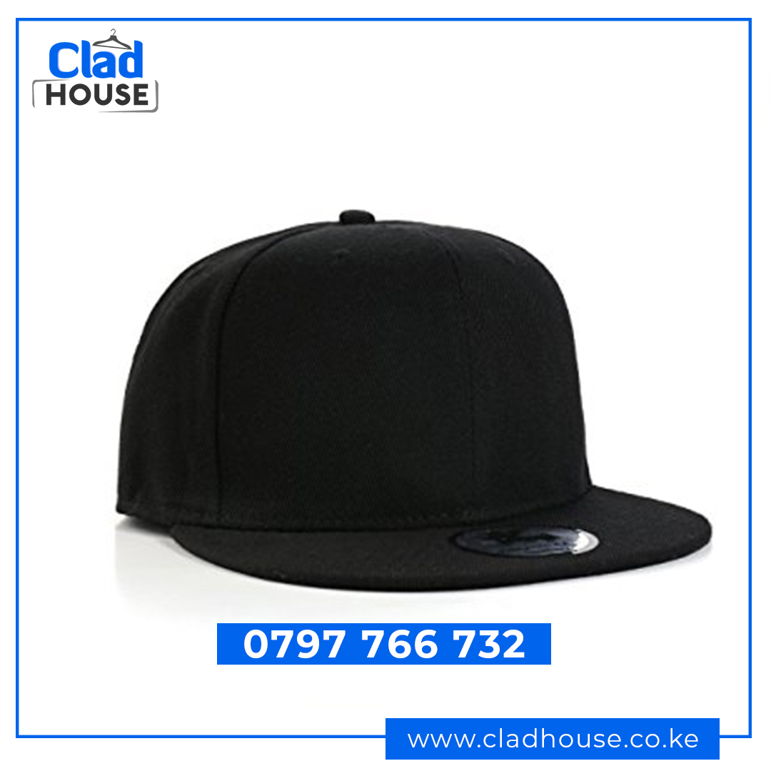 Plain Black Snap back