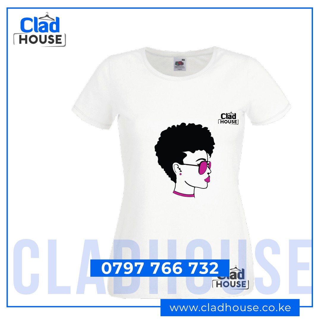 Short Hair Afro Ladies Tshirt