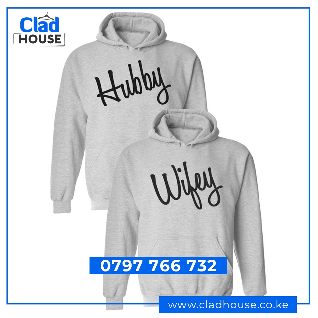 Wife and Hubby Couple Hoodies